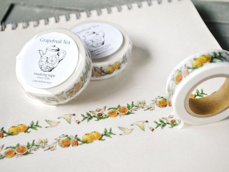 Grapefruit Tea(White) masking tape