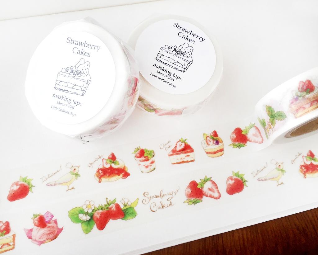 2018春再販予定◆StrawberryCakes masking tape