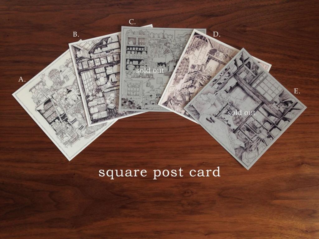 スクエアポストカード(ホワイトフレーム)
