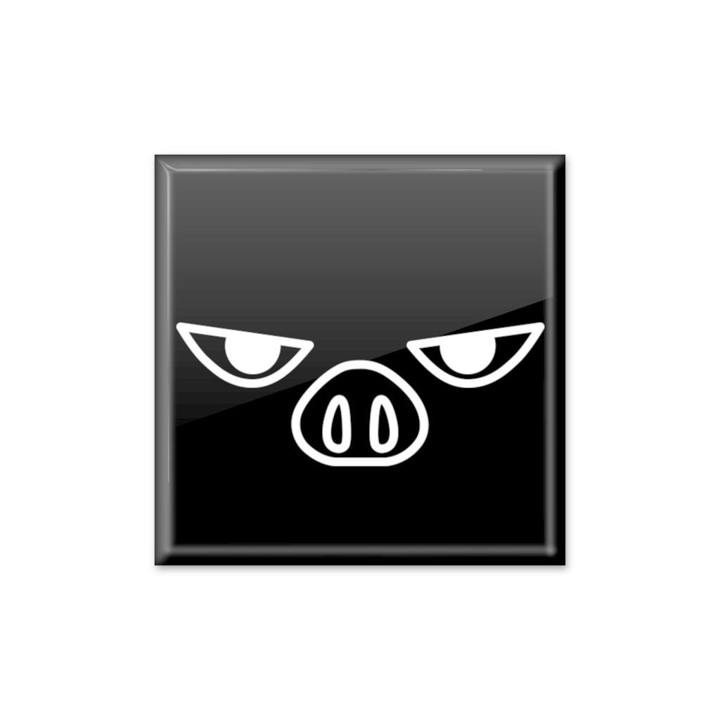 缶バッジ「超機動偶蹄目ブタコプター」