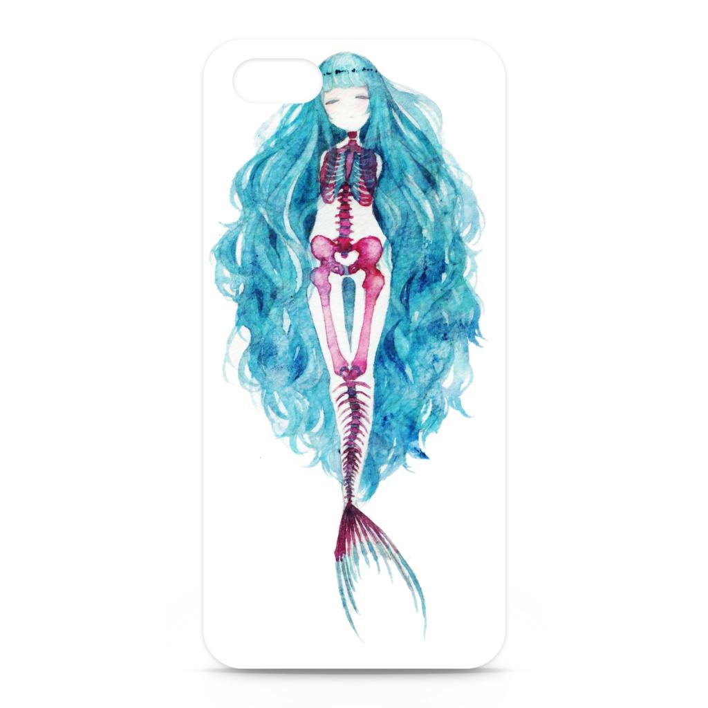 iPhoneケース【人魚Lの透明骨格標本】