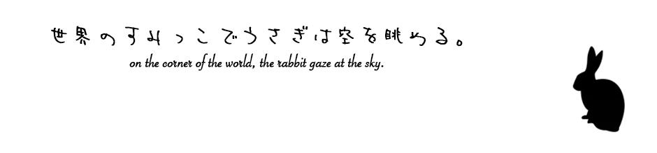 世界のすみっこでうさぎは空を眺める。