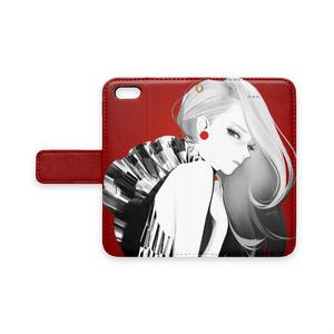 「Rosso」 手帳型iPhoneケース
