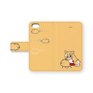 狐ケース(手帳型、iPhone5)