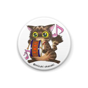 猫音シリーズ~太鼓にゃん~缶バッチ