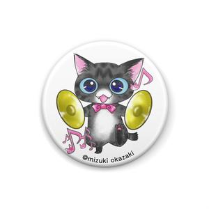 猫音シリーズ~シンバルにゃん~缶バッチ