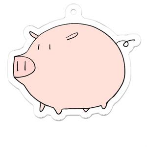 アクリルキーホルダー「豚」