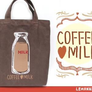 コーヒー牛乳/ハンドルトートバッグ