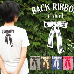 バックリボンTシャツ(レディース)
