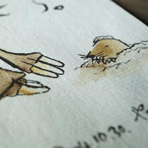 水彩手描き原画◆もぐら◆ポストカード