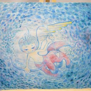 水彩手描き原画◆射手座