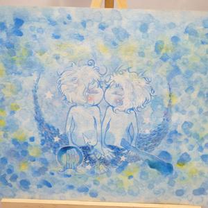 水彩手描き原画◆双子座