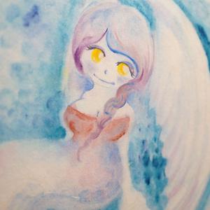 水彩手描き原画◆みつめるさきに