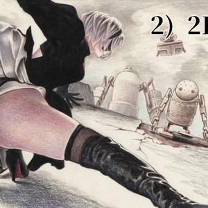 NieR:Automata合同誌「命ノ記憶」挿絵原画イラスト
