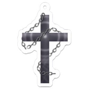 十字架アクリルキーホルダー