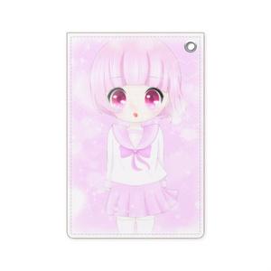 ピンクちゃん パスケース 7cm x 10.5cm