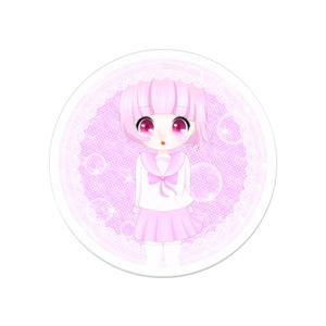ピンクちゃん アクリルバッジ 5cm x 5cm