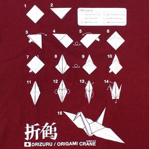 折鶴Tシャツ(バーガンディ)