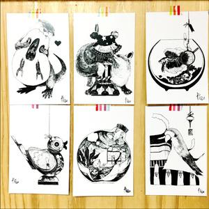 モノクロポストカードセット(8枚)