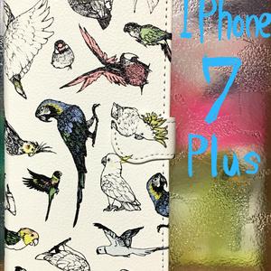 手帳型スマホカバー  BIRDMIXカラー iPhone7Plus
