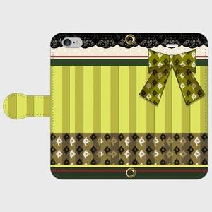 (iPhone用)瑞穂モチーフ手帳型スマホケース