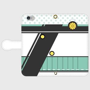 (iPhone用)秋津洲モチーフ手帳型スマホケース