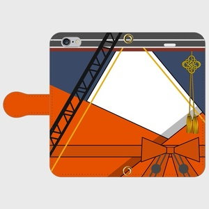 (iPhone用)千歳甲、千代田甲モチーフ手帳型スマホケース