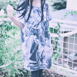 黒百合Tシャツワンピース