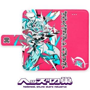 快楽ニードル 手帳型iPhoneケース ピンク