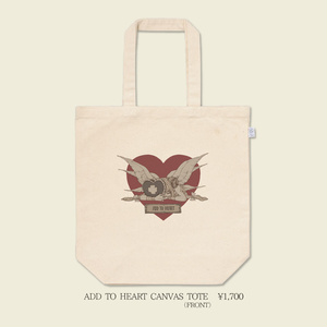 ADD TO HEART CANVAS TOTE