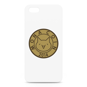 iPhone5/5sケース リアルモナコイン表柄 文字無 メダル色