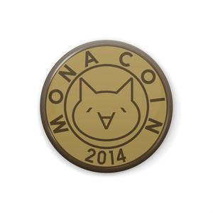 缶バッジ 32mm リアルモナコイン表柄 メダル色