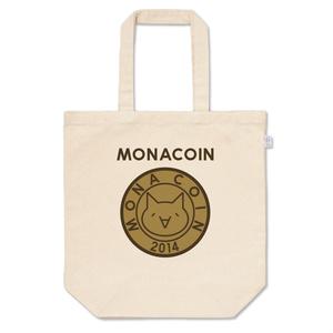 トートバッグ M リアルモナコイン表柄 文字有 メダル色