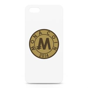 iPhone5/5sケース リアルモナコイン裏柄 文字無 メダル色