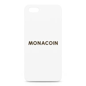 iPhone5/5sケース モナコイン 文字のみ メダル色