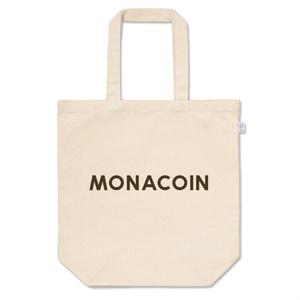 トートバッグ M モナコイン 文字のみ メダル色