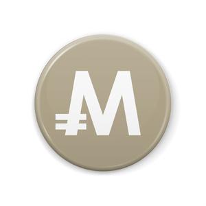 缶バッジ 44mm モナコイン メダル色