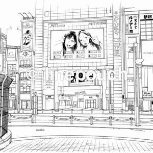 【無料DL可】大型ビジョン(新宿)