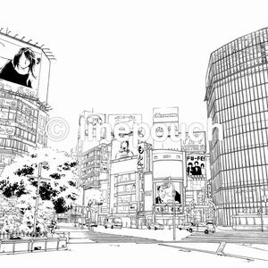 渋谷スクランブル交差点(渋谷)