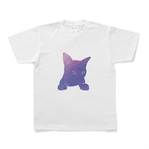 宇宙猫Tシャツ(紫)
