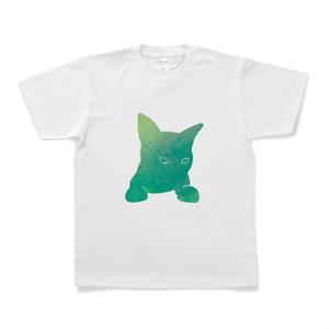 宇宙猫Tシャツ(緑)