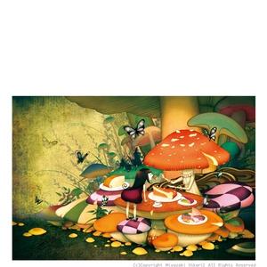 ポストカード「マッシュルームパーティー」