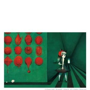 ポストカード「赤帽子ちゃん」