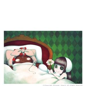 ポストカード「赤帽子ちゃん -おみまい-」