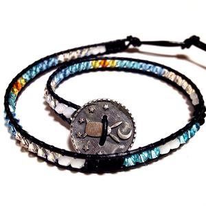 スワロフスキーラップブレスレット  Light Turquoise
