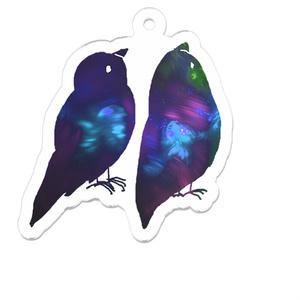 青い鳥のキーホルダー