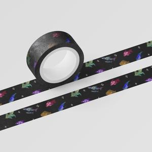 キラキラ海の生き物マスキングテープ