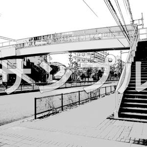 写真加工背景画「街・周辺施設」10枚組