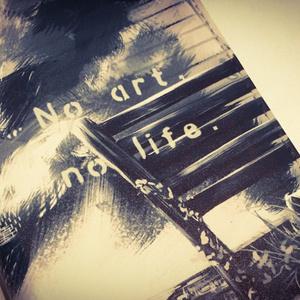 【iphoneSE/5/5s手帳型ケース手鏡付】             No art, no life.