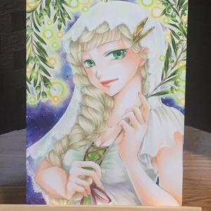 【原画】Evening Emerald(+おまけポストカード付)★送料無料